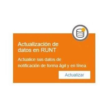 actualizar datos personales en RUNT